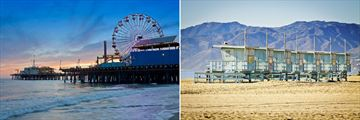 Santa Monica Pier and Venice Beach