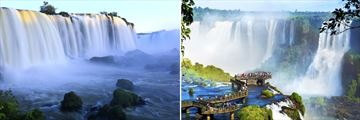 Iguazu Falls, sitting on the borders of Argentina and Brazil