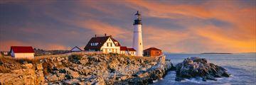 A gorgeous sunset along Maine's coastline