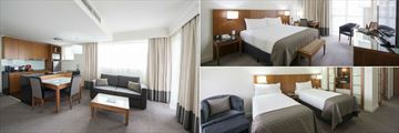 Majestic Roof Garden Hotel, Majestic Suite Kitchen, Majestic Classic and Majestic Twin Superior Bedrooms