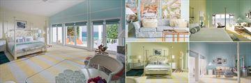 Malliouhana, Junior Suite, Two Bedroom Oceanview Suite, Oceanview Premium Room, Junior Suite Living Area and Garden View Deluxe Room