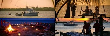 Fishing trips, sunset dining and evening bomas at Manda Bay