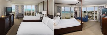 Twin Grand Suite and Double Grand Suite Rooms at Melia Nassau Beach All Inclusive