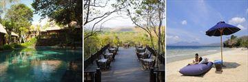 The Manjangan Resort; Main Pool, Bali Tower Restaurant, Beach Loungers