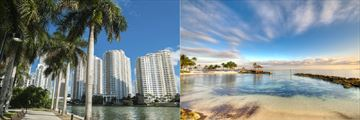 Miami architecture and Bahamas Beach