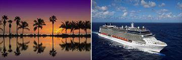 Sunrise in Miami & Celebrity Cruise Ship
