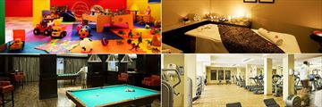 Miramar Al Aqah Beach Resort, Jayjay Kids' Club, Spa Couple's Treatment Room, Fitness Centre and Billiards