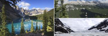 Moraine Lake, Sulphur Mountain gondolas & Columbia Icefield