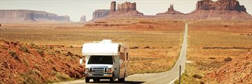Driving through Monument Valley, Utah