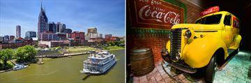 Nashville city views and Coca Cola World in Atlanta