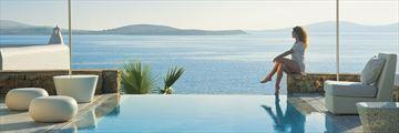 Pool views of Mykonos Grand Hotel & Resort