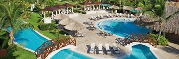 Aerial View of the Main Pool at Now Garden Punta Cana