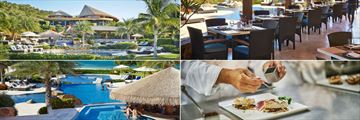 The Beach Club Exterior, Interior, Dining Option and Pool at Oil Nut Bay