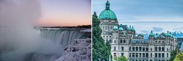 Optional Excursions to Niagara Falls, Ontario & Victoria, British Columbia