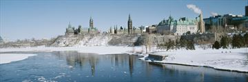 Ottawa Winterlude City Break, Snowy Waterfront Views of Ottawa