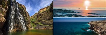 Kakadu (left), Cable Beach (top right), Broome (bottom right)