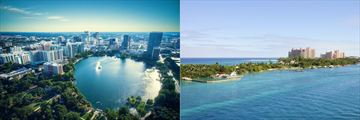 Orlando City Skyline and Paradise Island Aerial
