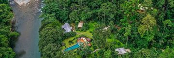 Aerial view of Pacuare Lodge