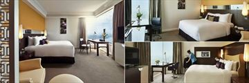 Pan Pacific Hanoi, (clockwise from left): Premier Lake View Room, Deluxe Room and Pacific Club Room