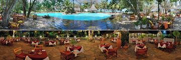 Pool and Bistro and Baobab Restaurant at Papillon Lagoon Reef
