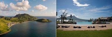 Park Hyatt St. Kitts, Aerial View of Resort and Banana Bay, Lagoon Pool and Beach