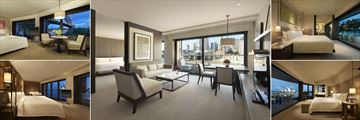 Park Hyatt Sydney, (clockwise from top left): Opera Suite, Cove Suite, Rooftop Suite, Sydney Suite and Harbour Suite