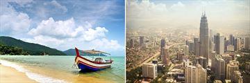 Penang Beach & Kuala Lumpur Skyline