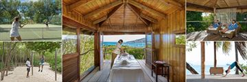 Petit St Vincent, Tennis, Spa Treatment, Spa Relaxation Area, Yoga and Outdoor Fitness