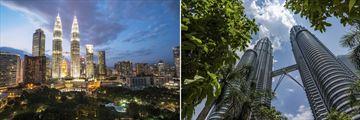 Petronas Towers & Kuala Lumpur cityscape