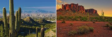 Phoenix and the surrounding desert landscapes, Arizona