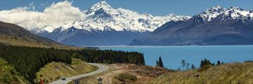 Picturesque Roads Leading to Mount Cook, New Zealand