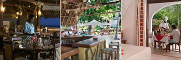 Pinewood Beach Resort & Spa, Peponi Beach Restaurant, Pool Bar and In-suite Dining