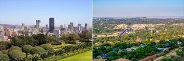 Pretoria city skyline & Jacaranda lined suburbs