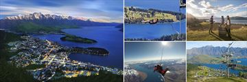 Aerial view & Activities in Queenstown, South Island