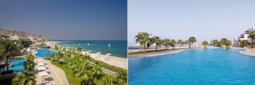 Radisson Blu Resort Fujairah, Aerial Resort View and East Pool