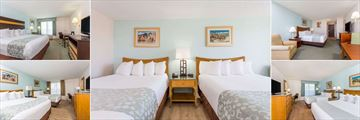 A Selection of Guest Rooms with Various View Options at Ramada Plaza Nags Head Beach