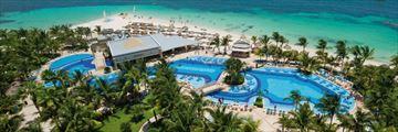 Riu Caribe, Aerial View of Resort Pool and Beach
