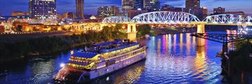 Riverboat sailing down Cumberland River, Nashville, Tennessee