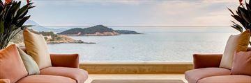 Terrace Libertas views at Rixos Premium Dubrovnik