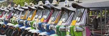 Row of Tuk-Tuks Bangkok