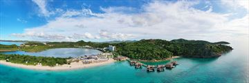 An aerial view of Royalton Antigua