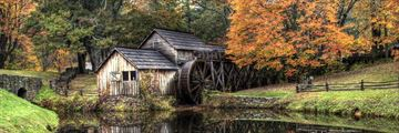 Rustic gristmill in the autumn, Virginia