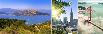 San Francisco Bay, Cityscape & Golden Gate Bridge