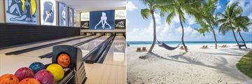 Sandals Royal Barbados, Lovers 4 Lane Bowling Alley and Beach
