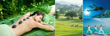 Sandals Royal Plantation Ocho Rios, Red Lane Spa Hot Stone Therapy, Sandals Golf & Country Club, Scuba Diving and Yoga