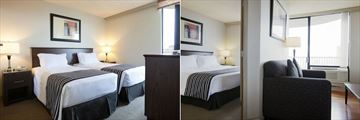 Sandman Suites Vancouver - Davie Street, Twin Single and Queen Suite with Sofa Bed Limited View