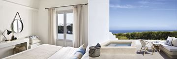 Suite Pool Front and Junior Suite Sea View at Santo Maris Oia Luxury Suites & Spa