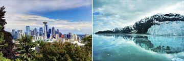 Seattle Cityscape & Scenery in Glacier Bay, Alaska