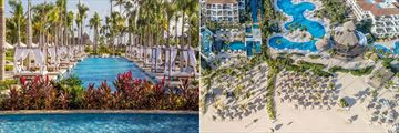 Quiet pool and aerial view of Secrets Royal Beach Punta Cana
