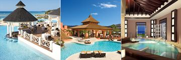 Seaside Grill, Beach Club and Spa Pool at Secrets St James Montego Bay